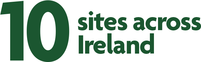 10 sites across Ireland