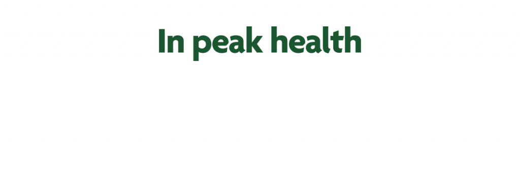 In peak health