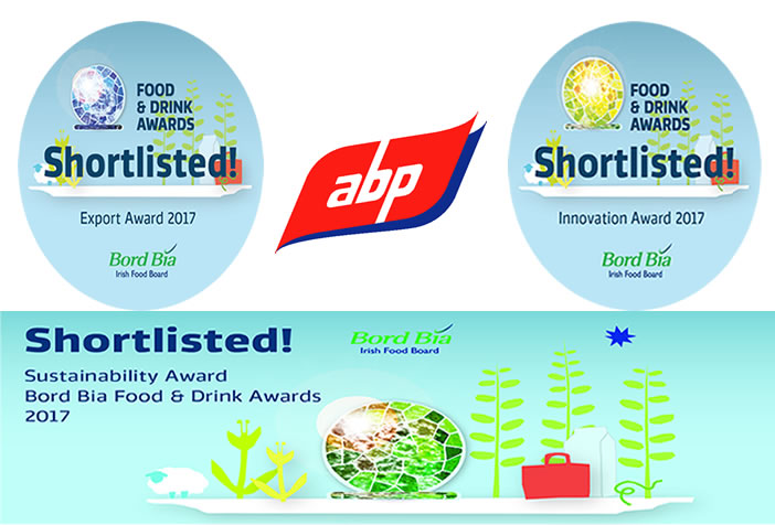 ABP Food Group shortlisted for 3 Bord Bia Awards